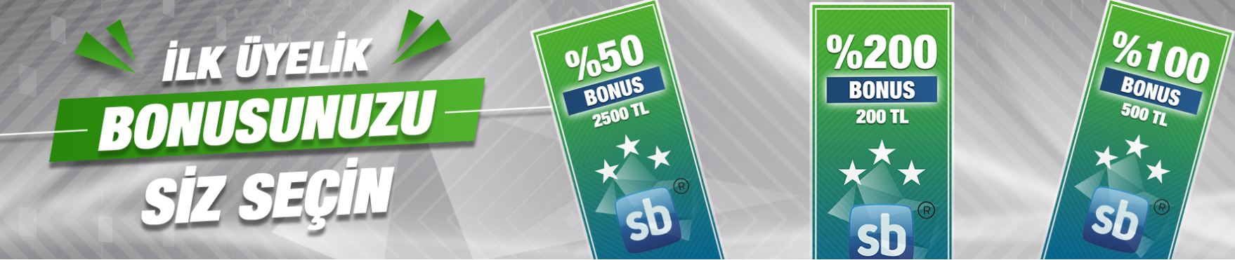 Superbetin ilk üyelik bonusu
